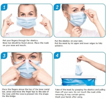 3/ply disposable nonwoven scent face mask manufacturer china